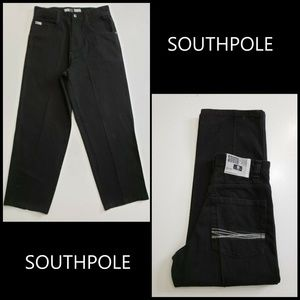 Southpole Men Denim Straight Jeans Size 32 Black